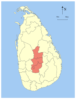 sri lanka central province locator map